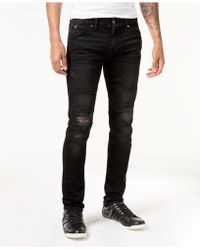 Guess - Men's Slim-fit Tapered Stretch Destroyed Moto Jeans - Lyst
