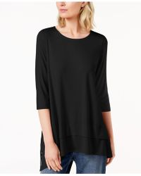 Eileen Fisher - Stretch Jersey 3/4-sleeve Top, Created For Macy's - Lyst
