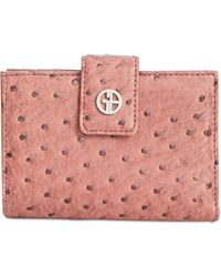 Giani Bernini - Ostrich-embossed Frame Wallet, Created For Macy's - Lyst