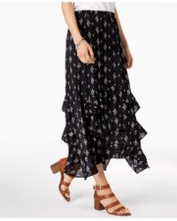 Style & Co. - Printed Tiered-ruffle Maxi Skirt, Created For Macy's - Lyst