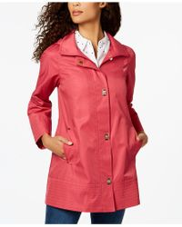 Jones New York - Turnkey Hooded Raincoat - Lyst