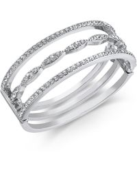INC International Concepts - I.n.c. Silver-tone Crystal Triple-row Bangle Bracelet, Created For Macy's - Lyst