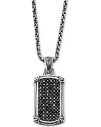 Scott Kay - Men's Black Sapphire Dog Tag Pendant Necklace (1-3/8 Ct. T.w.) In Sterling Silver - Lyst