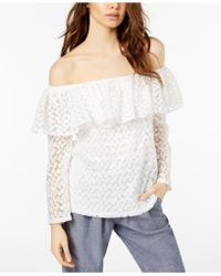 JILL Jill Stuart - Off-the-shoulder Lace Top, Created For Macy's - Lyst