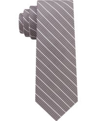DKNY - Pillar Stripe Slim Tie - Lyst