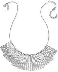 INC International Concepts - Silver-tone Sticks & Stones Pavé Statement Necklace - Lyst