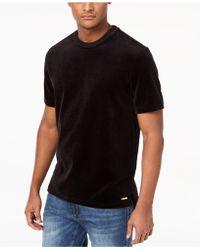 Sean John - Men's Velour T-shirt - Lyst