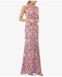 JS Collections - Embroidered Illusion Gown - Lyst