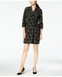 Calvin Klein - Mixed-print Double-breasted Blazer Dress - Lyst