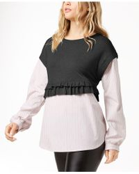 Kensie - Layered-look Sweater - Lyst