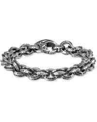 Scott Kay - Logo Link Bracelet In Sterling Silver - Lyst