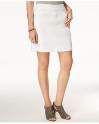 Style & Co.   Frayed Pull-on Denim Skort   Lyst