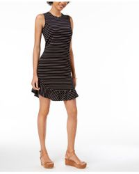 Maison Jules - Ruffled-hem Striped A-line Dress, Created For Macy's - Lyst