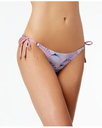 Dolce Vita | Shell-print Side-tie Bikini Bottoms | Lyst
