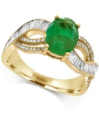 Effy Collection - Emerald (1-1/2 Ct. T.w.) And Diamond (1/2 Ct. T.w.) Ring In 14k Gold - Lyst