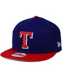 Lyst - Ktz Texas Rangers Mlb Diamond Era 59fifty Cap in Red for Men 5e8f597a0a9b