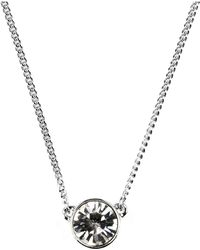 Givenchy - Silver-Tone Small Swarovski Element Pendant Necklace - Lyst