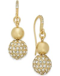 Charter Club - Gold-tone Crystal Fireball Drop Earrings, Created For Macy's - Lyst