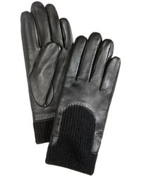 Charter Club - Leather & Scoop Knit Touchscreen Gloves - Lyst