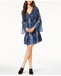 Style & Co. - Petite Printed Lantern-sleeve Dress, Created For Macy's - Lyst