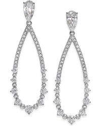 Danori - Open Teardrop Crystal Drop Earrings - Lyst