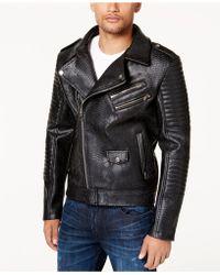 Reason - Men's Faux Leather Bomber Jacket - Lyst