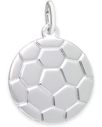 Rembrandt Charms - Sterling Silver Soccer Ball Charm - Lyst