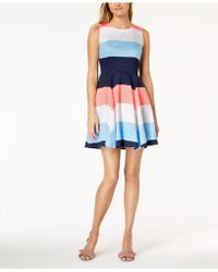 Maison Jules - Colorblocked Fit & Flare Dress, Created For Macy's - Lyst