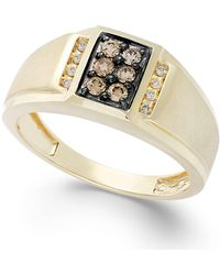 Effy Collection - Gento By Effy Men's Brown Diamond And White Diamond Accent Ring In 14k Gold (1/3 Ct. T.w.) - Lyst