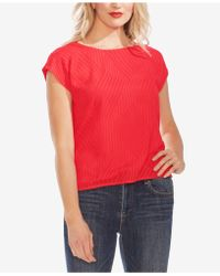 Vince Camuto - Textured Extended-shoulder Top - Lyst