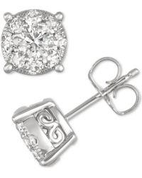 Macy's - Diamond Stud Earrings (3/4 Ct. T.w.) In 14k Gold - Lyst