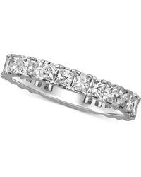 Macy's - Diamond Princess Eternity Band (2 Ct. T.w.) In 14k White Gold - Lyst