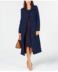Anne Klein - Single-breasted Maxi Coat - Lyst
