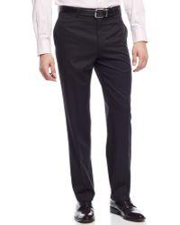 Lauren by Ralph Lauren - Slim-fit 100% Wool Solid Black Dress Pants - Lyst