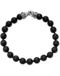 Scott Kay - Men's Onyx (8mm) Bead Link Bracelet In Sterling Silver, (also In Red Tiger's Eye) - Lyst