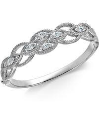 Danori - Crystal Braided Openwork Bangle Bracelet, Created For Macy's - Lyst