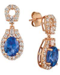 Le Vian - ® Strawberry & Nudetm Multi-gemstone (2-1/4 Ct. T.w.) & Diamond (7/8 Ct. T.w.) Drop Earrings In 14k Rose Gold - Lyst