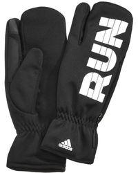adidas - Women's Performance Run Mitten Gloves - Lyst