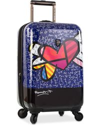 "Heys - Britto Heart With Wings 21"" Carry-on Expandable Hardside Spinner Suitcase - Lyst"