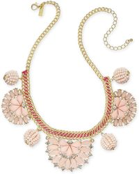 """INC International Concepts - I.n.c. Gold-tone Stone & Crystal Statement Necklace, 18"""" + 3"""" Extender, Created For Macy's - Lyst"""