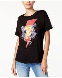 Guess - Electric Jaguar Graphic T-shirt - Lyst