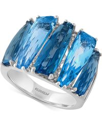 Effy Collection - Blue Topaz (8-7/8 Ct. T.w.) And Diamond Accent Ring In 14k White Gold - Lyst