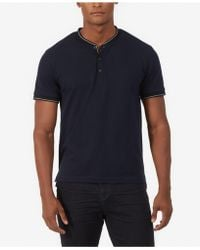 Kenneth Cole - Solid Henley Shirt - Lyst