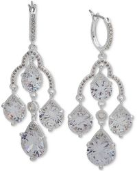 Anne Klein - Crystal Chandelier Earrings - Lyst