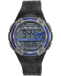 Armitron - Men's Digital Black Resin Strap Watch 45mm 40-8189blu - Lyst