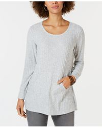Style & Co. - Ribbed Pocket-front Tunic, Created For Macy's - Lyst