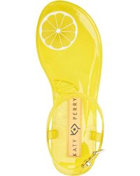 Katy Perry Geli Novelty Scented Jelly Sandals - Yellow