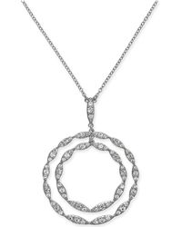 """INC International Concepts - I.n.c. Silver-tone Crystal Double Circle Pendant Necklace, 29"""" + 3"""" Extender, Created For Macy's - Lyst"""