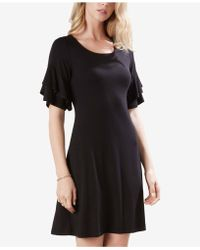 Karen Kane - Ruffle-sleeve A-line Dress - Lyst