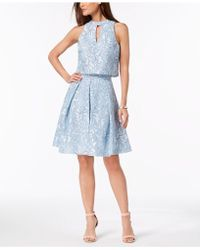Julia Jordan - Damask Mesh 2-pc. Dress - Lyst